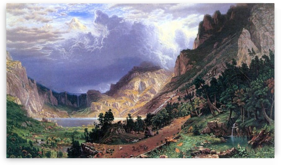 Storm in the Rockies, Mt. Rosalie by Bierstadt by Bierstadt