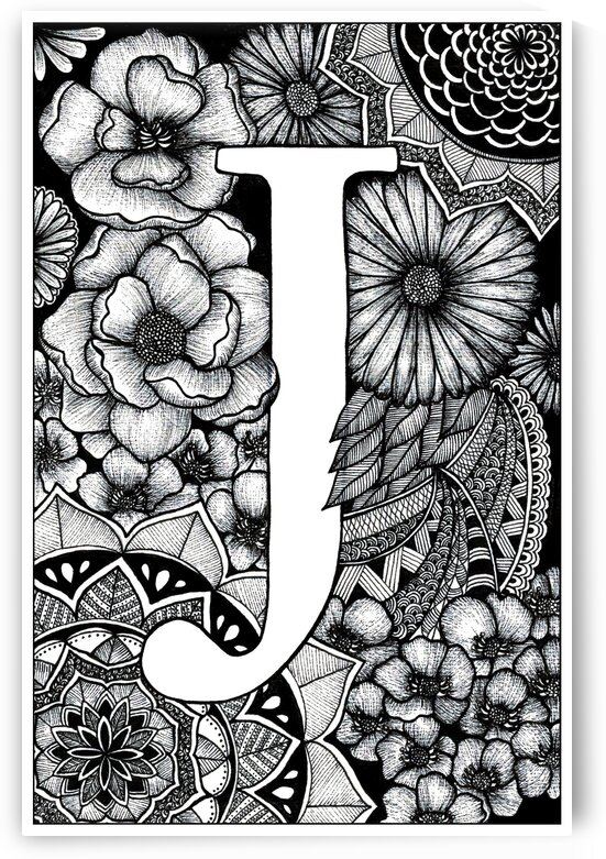 The letter J by Mandalove by Florence
