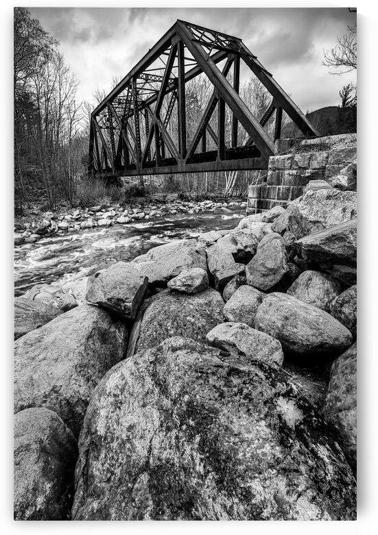 Train Bridge ap 2225 B&W by Artistic Photography