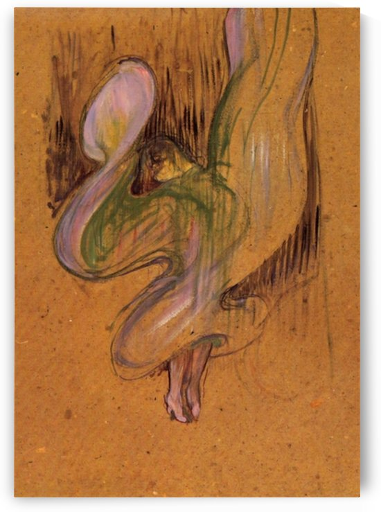 Study for Loie Fuller by Toulouse-Lautrec by Toulouse-Lautrec