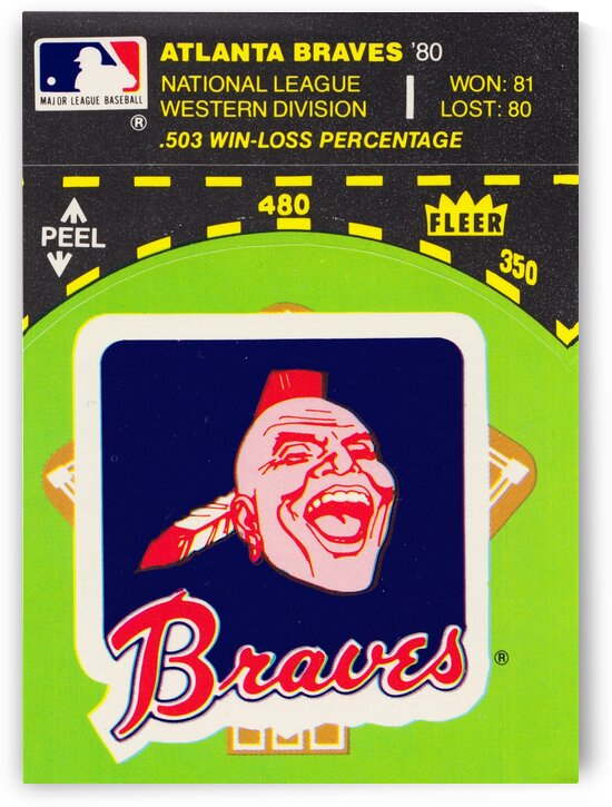 1981 Atlanta Braves Fleer Decal Poster by Row One Brand