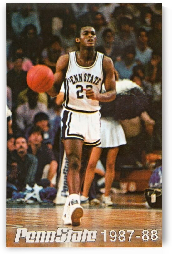 1987 Penn State Basketball Tony Ward Poster by Row One Brand