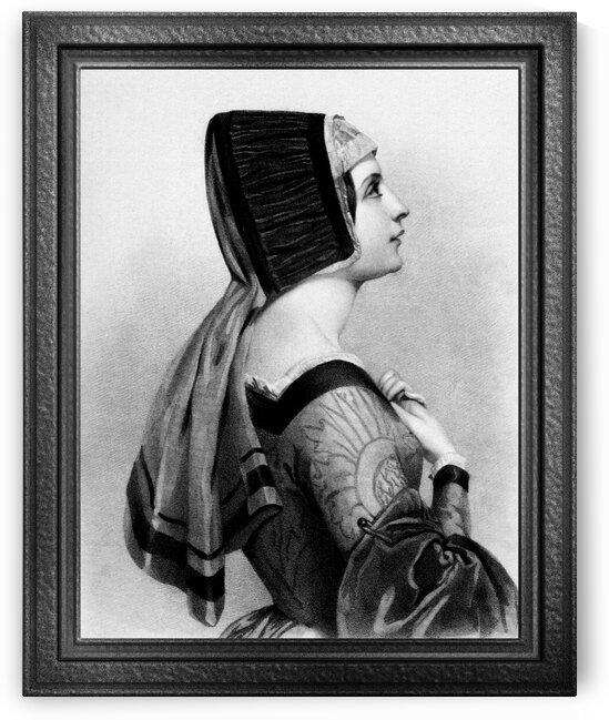Elizabeth Woodville Portrait Engraving Classical Art Reproduction by xzendor7