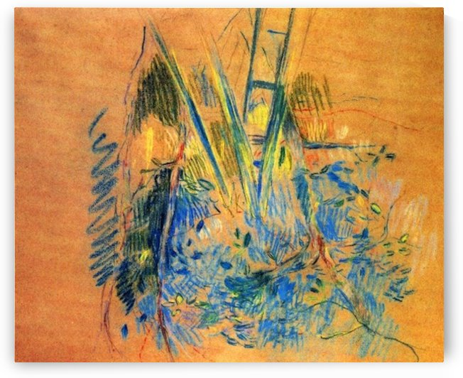 Study for the cherry tree by Morisot by Morisot