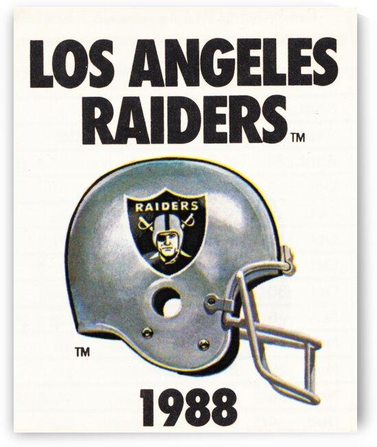 1988 Los Angeles Raiders Helmet Art by Row One Brand