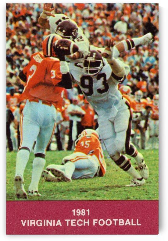 1981 Virginia Tech Retro Football Poster by Row One Brand