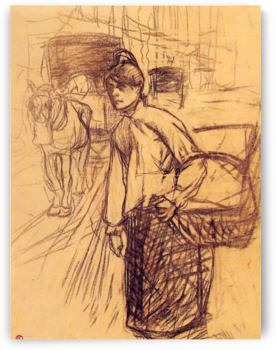 Study for the washing machine by Toulouse-Lautrec by Toulouse-Lautrec