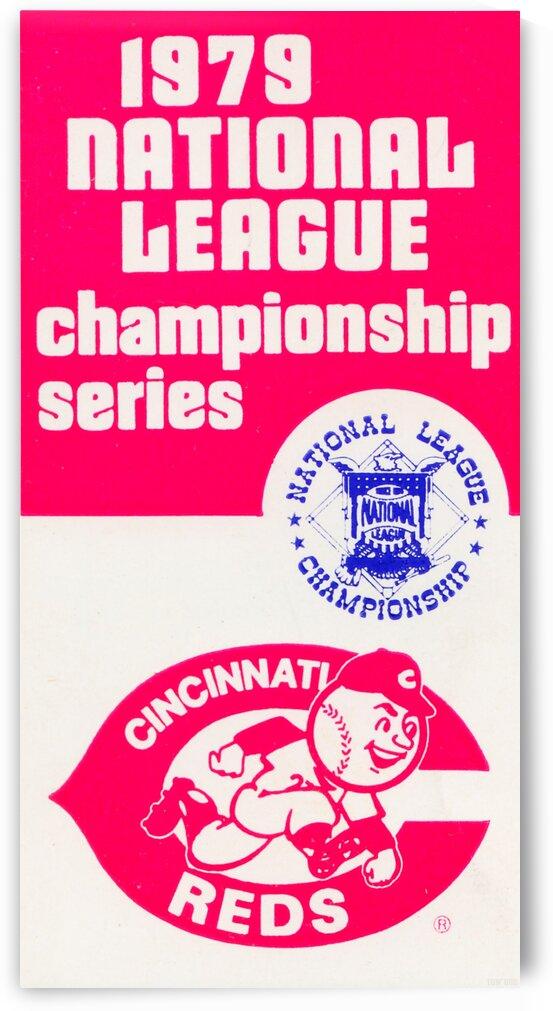 1979 Cincinnati Reds National League Championship Art   by Row One Brand