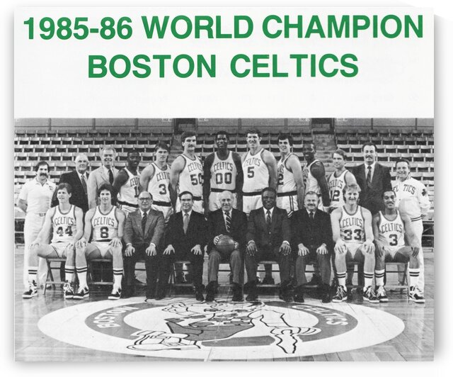 1985 World Champion Boston Celtics Team Photo Poster by Row One Brand