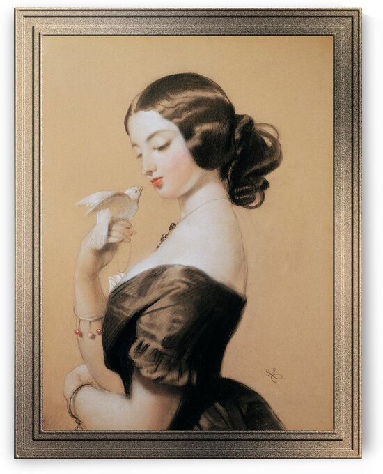 Miss Ellen Power by Sir Edwin Henry Landseer Old Masters Classical Art Reproduction by xzendor7