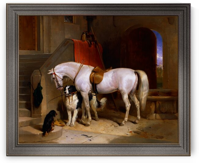 Favourites the Property of H.R.H. Prince George of Cambridge by Sir Edwin Henry Landseer by xzendor7