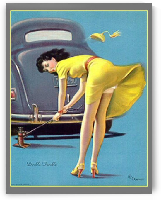 Pin up girl by VINTAGE POSTER