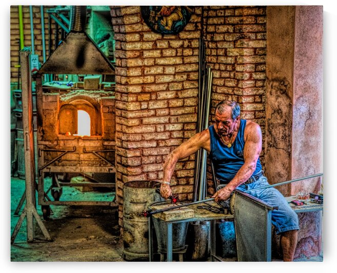 Glass Blower in Murano Edit Edit by Darryl Brooks