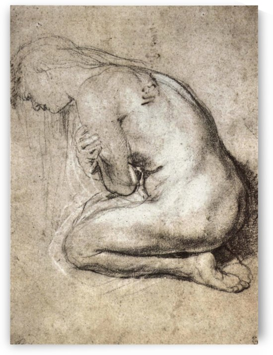 Study of Mary Magdalene by Rubens by Rubens
