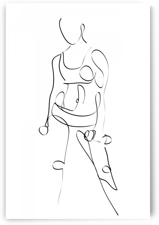 Sporty girl by Aquamarine