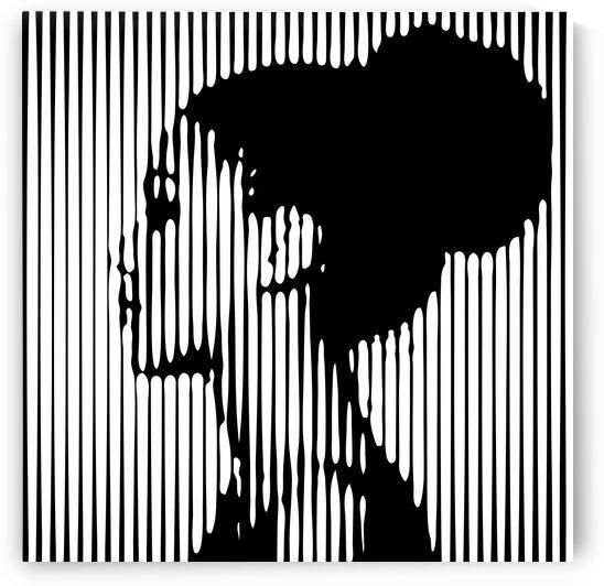 Female lines portrait II by Aquamarine