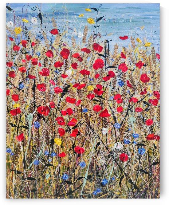 Sunshine days panel1 by Angie Wright Art