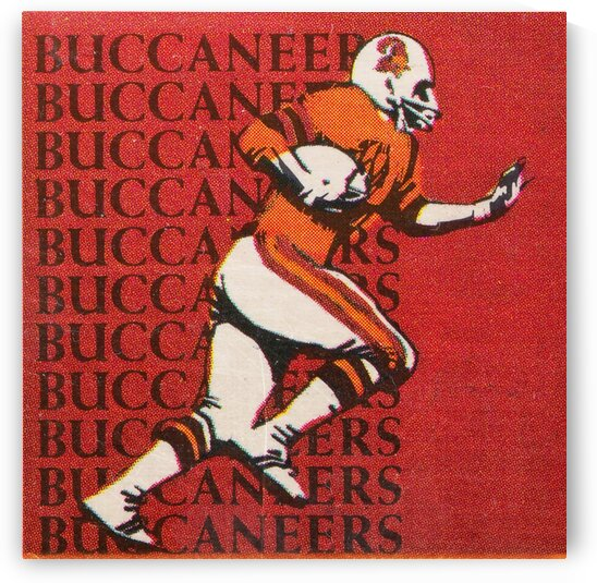 1976 Tampa Bay Buccaneers Football Art by Row One Brand