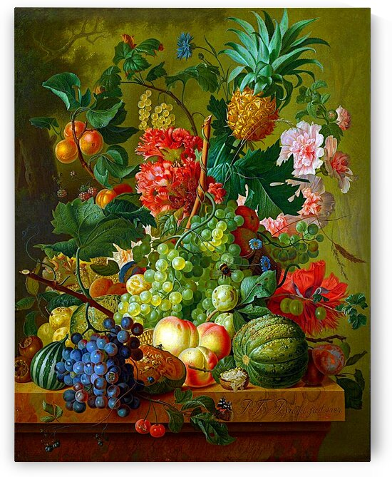 Still Life Of Flowers Fruits And Vegetables_OSG by One Simple Gallery