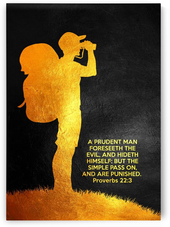 Proverbs 22:3 Bible Verse Wall Art by ABConcepts