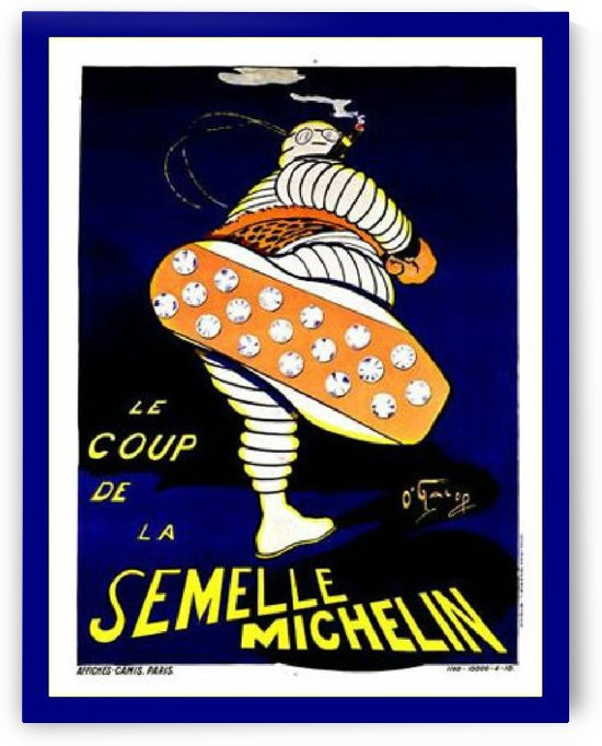 Michelin Tire Stud by VINTAGE POSTER