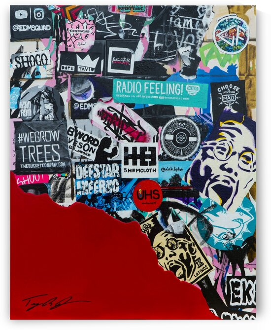 Wynwood Walls Sticker Wall by Artist Jones