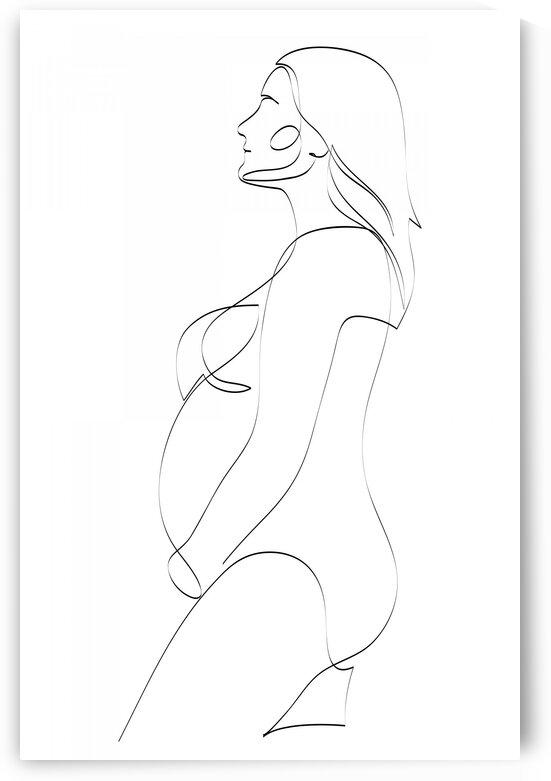 Pregnant woman by Aquamarine