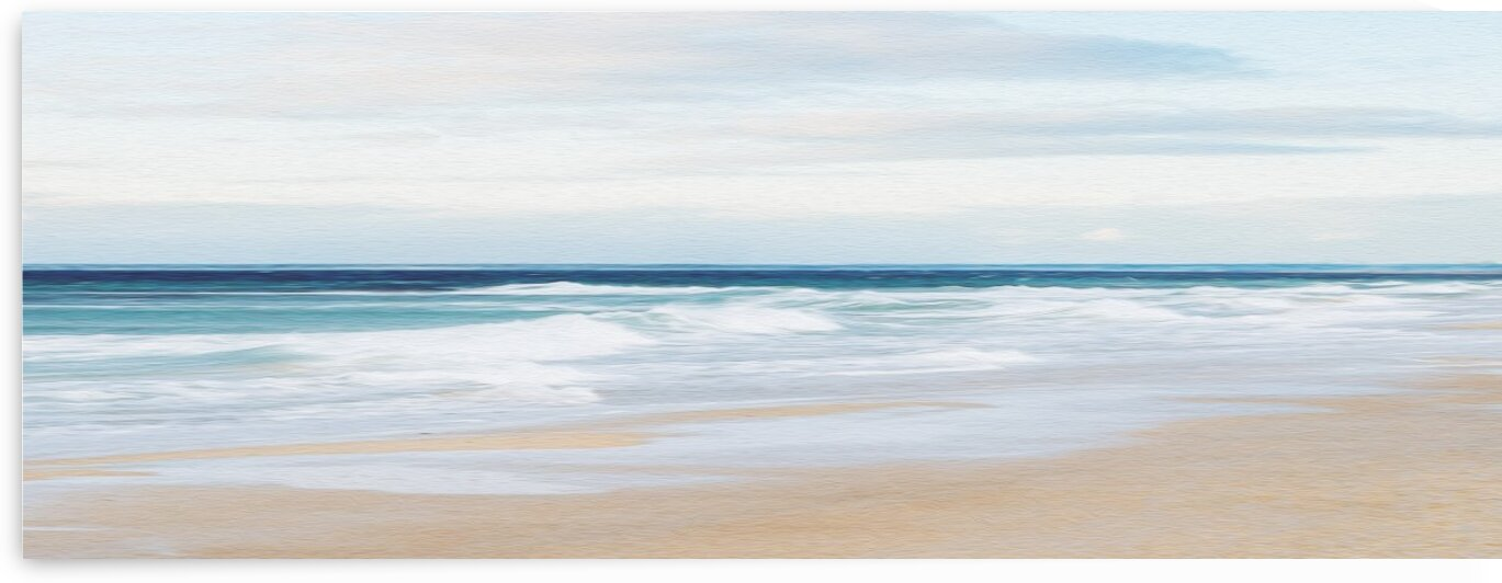Sandy shore on the ocean.  by Ievgeniia Bidiuk