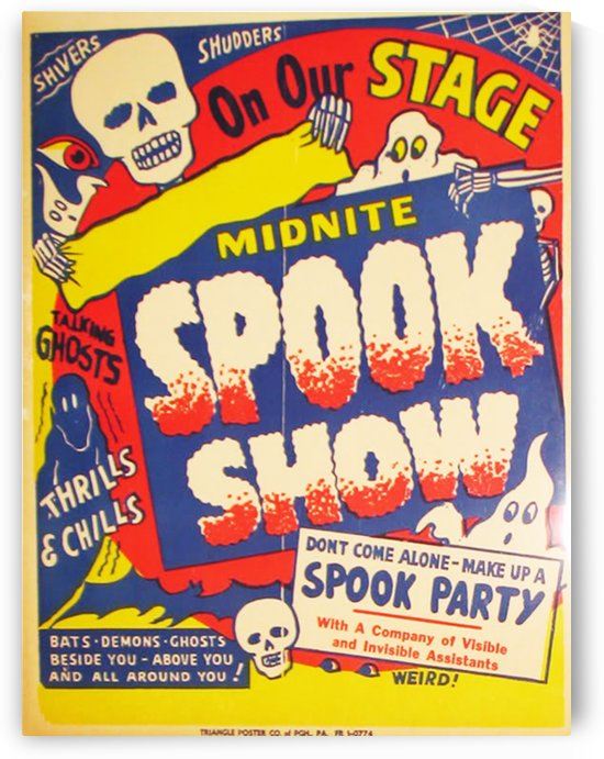 Spook Show by VINTAGE POSTER
