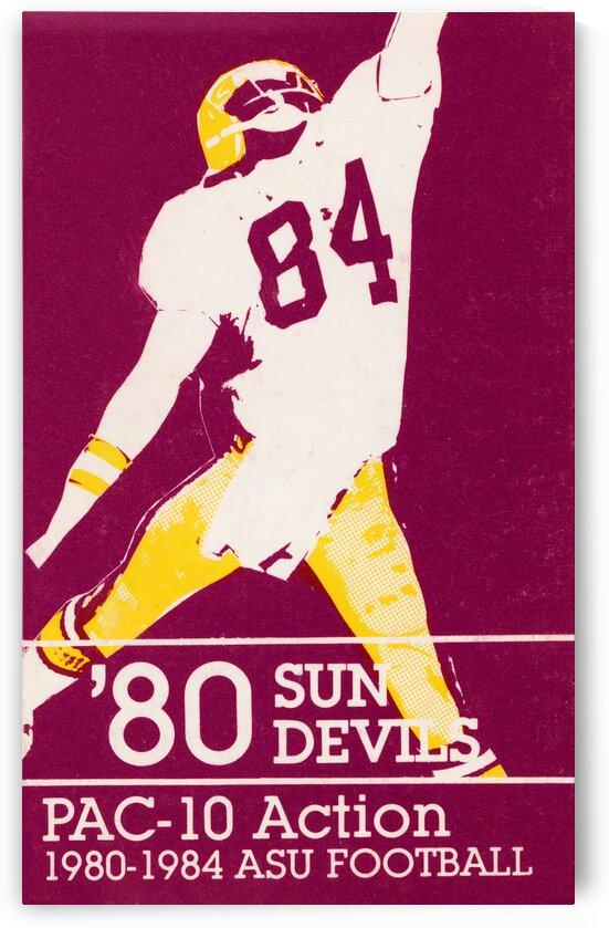 1980 Arizona State ASU Sun Devil Football Poster by Row One Brand
