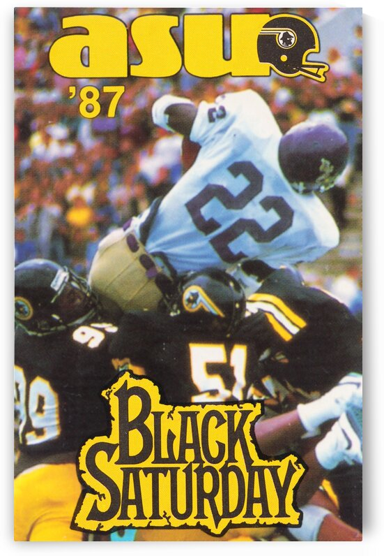 1987 Appalachian State Football Poster by Row One Brand