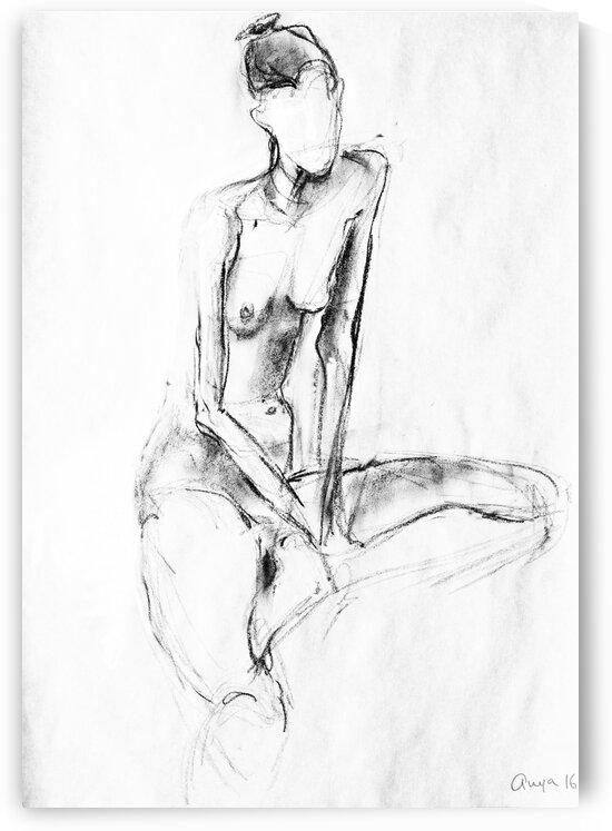 Sitting Nude  by Anya Romanenko