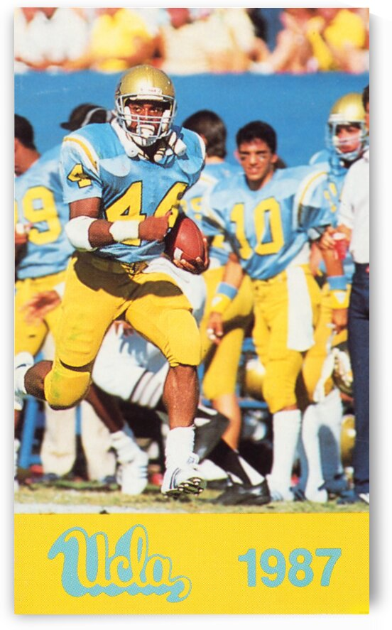 1987 UCLA Bruins Gaston Green Football Poster by Row One Brand