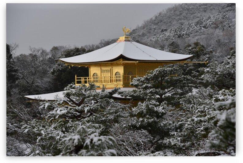 Kyoto Kinkaku-ji in snow by Onjin com