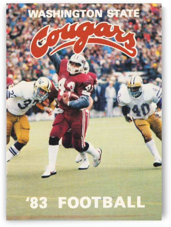 1983 Washington State Cougars Football Poster by Row One Brand
