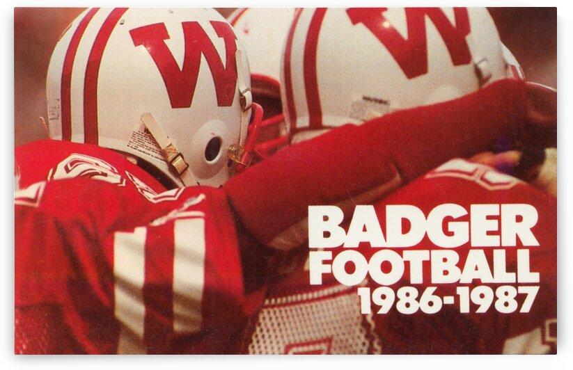 1986 Wisconsin Badgers Football Helmet Art by Row One Brand