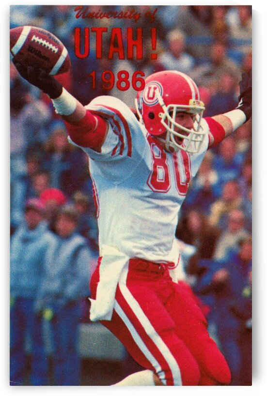 1986 Utah Utes Football Poster by Row One Brand