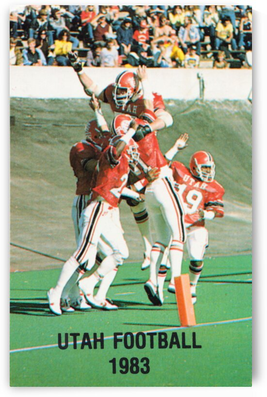 1983 Utah Utes Football Poster by Row One Brand