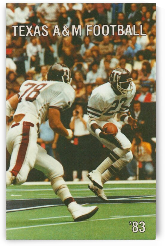 1983 Texas A&M Football Poster by Row One Brand