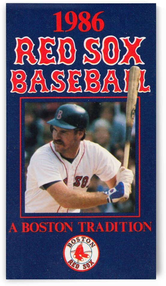 1986 Wade Boggs Boston Red Sox Poster by Row One Brand