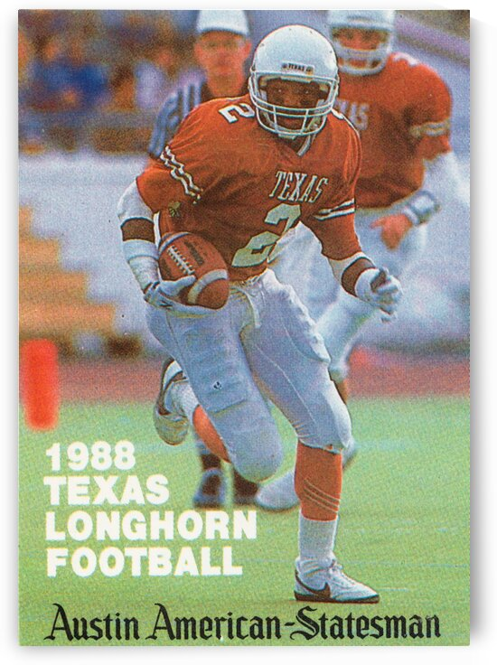 1988 Texas Longhorn Football Eric Metcalf Poster by Row One Brand