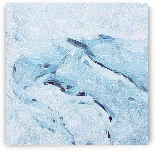 Abstraction blue waves. by Ievgeniia Bidiuk
