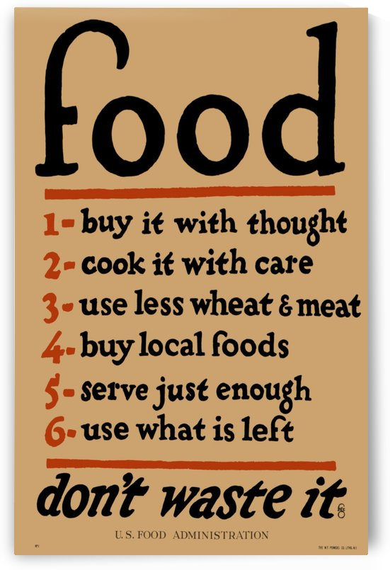 Food Poster by VINTAGE POSTER