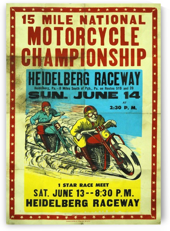 National Motocycle Championship by VINTAGE POSTER