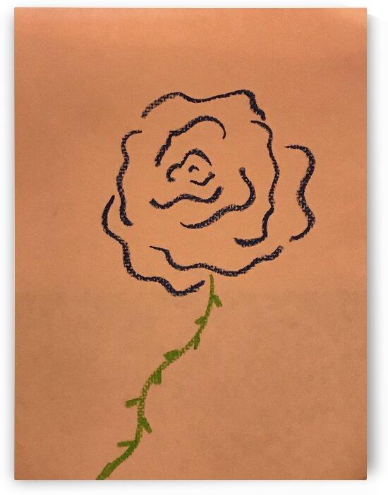 Minimalist pastel flower by Susan C