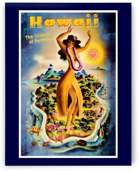 Hawaii the Island of Paradise by VINTAGE POSTER