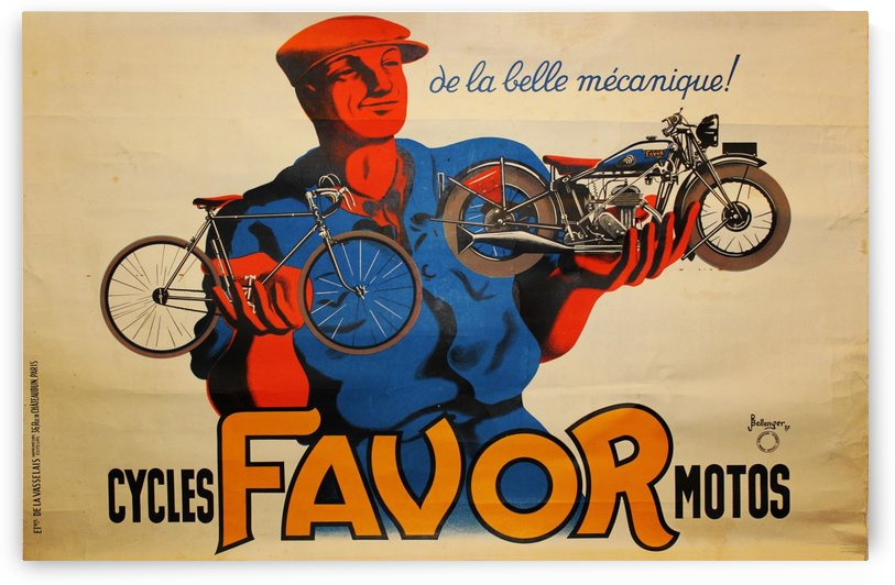 Cycles Favor Motors by VINTAGE POSTER