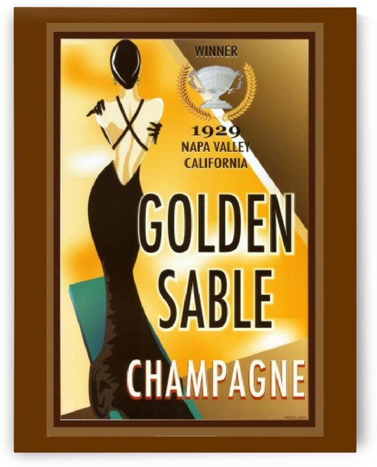 Golden Stable Champagne by VINTAGE POSTER
