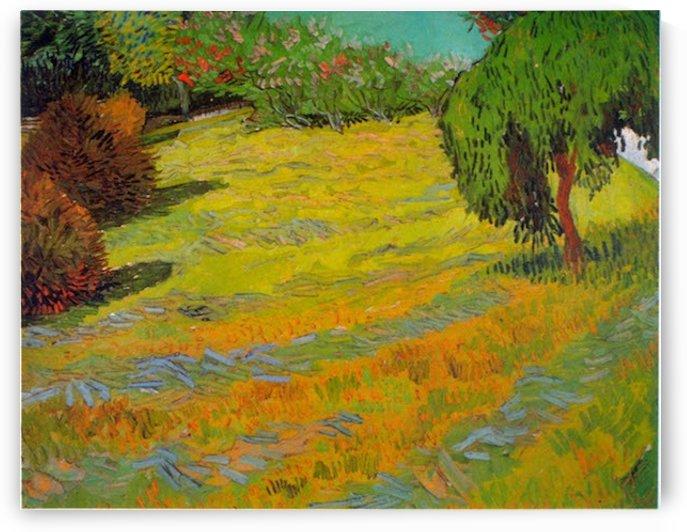 Sunny Lawn by Van Gogh by Van Gogh