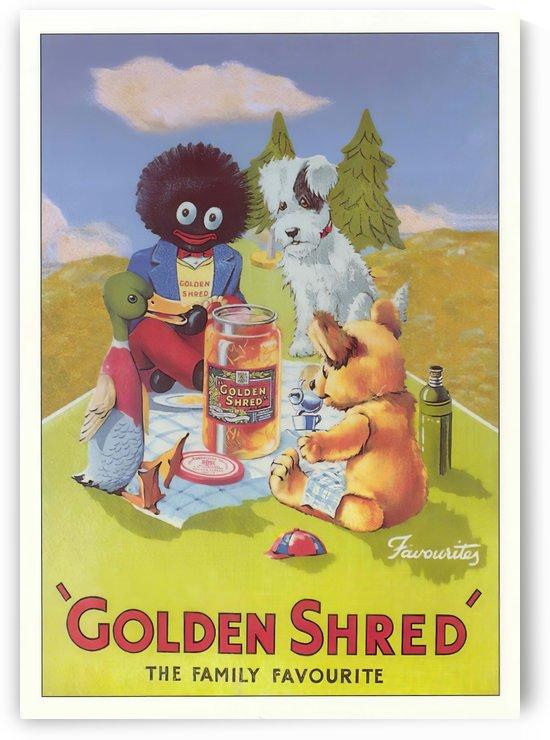 Golden Shred by VINTAGE POSTER